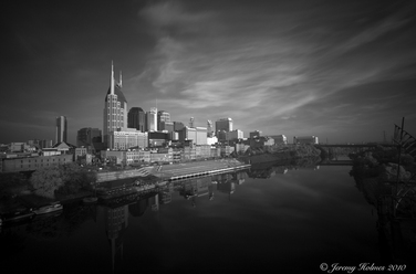 Buildings and city scapes in infrared