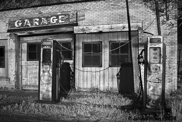 Garage art infrared series